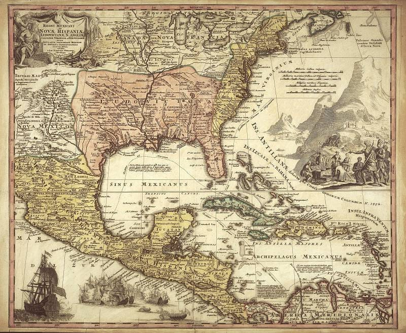 Mexico Antique World Maps Old Map Illustration Digital: Old Mexico Map At Infoasik.co