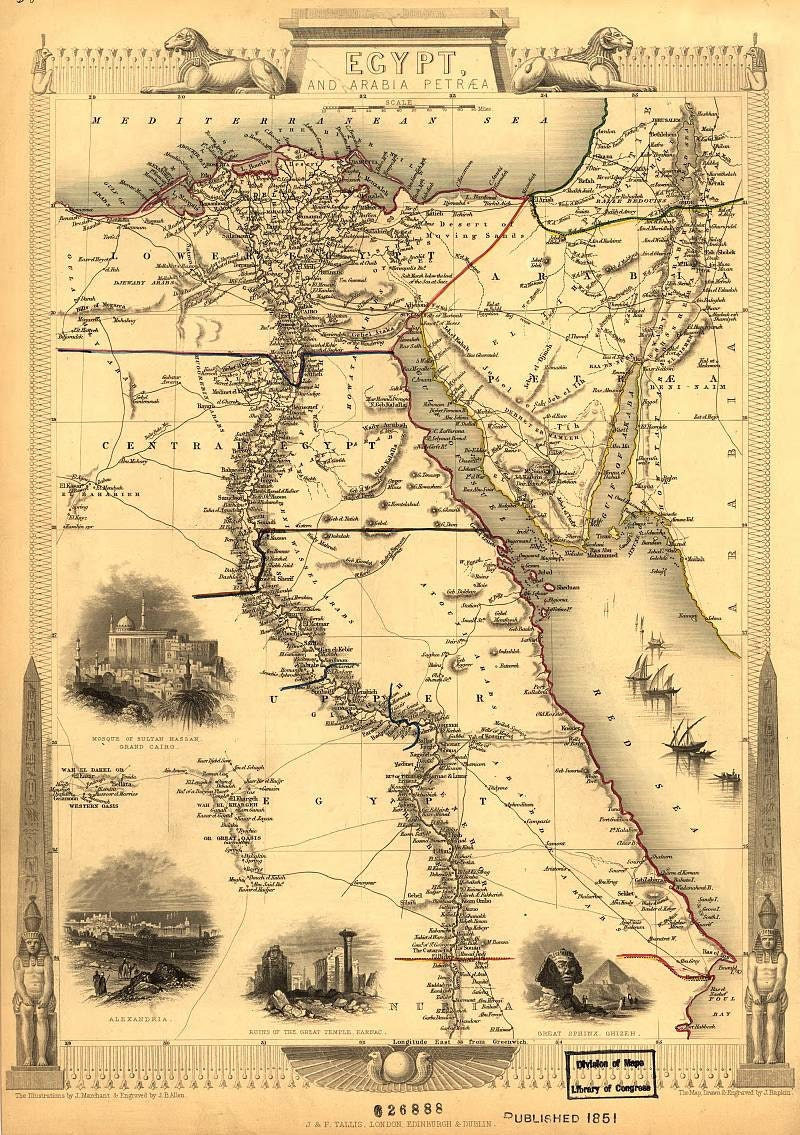 Egypt And Arabia Antique World Maps Old World Map - Map of just egypt