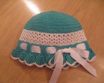 Girl Hat Cloche, Crochet Pattern PDF 12-002 INSTANT DOWNLOAD