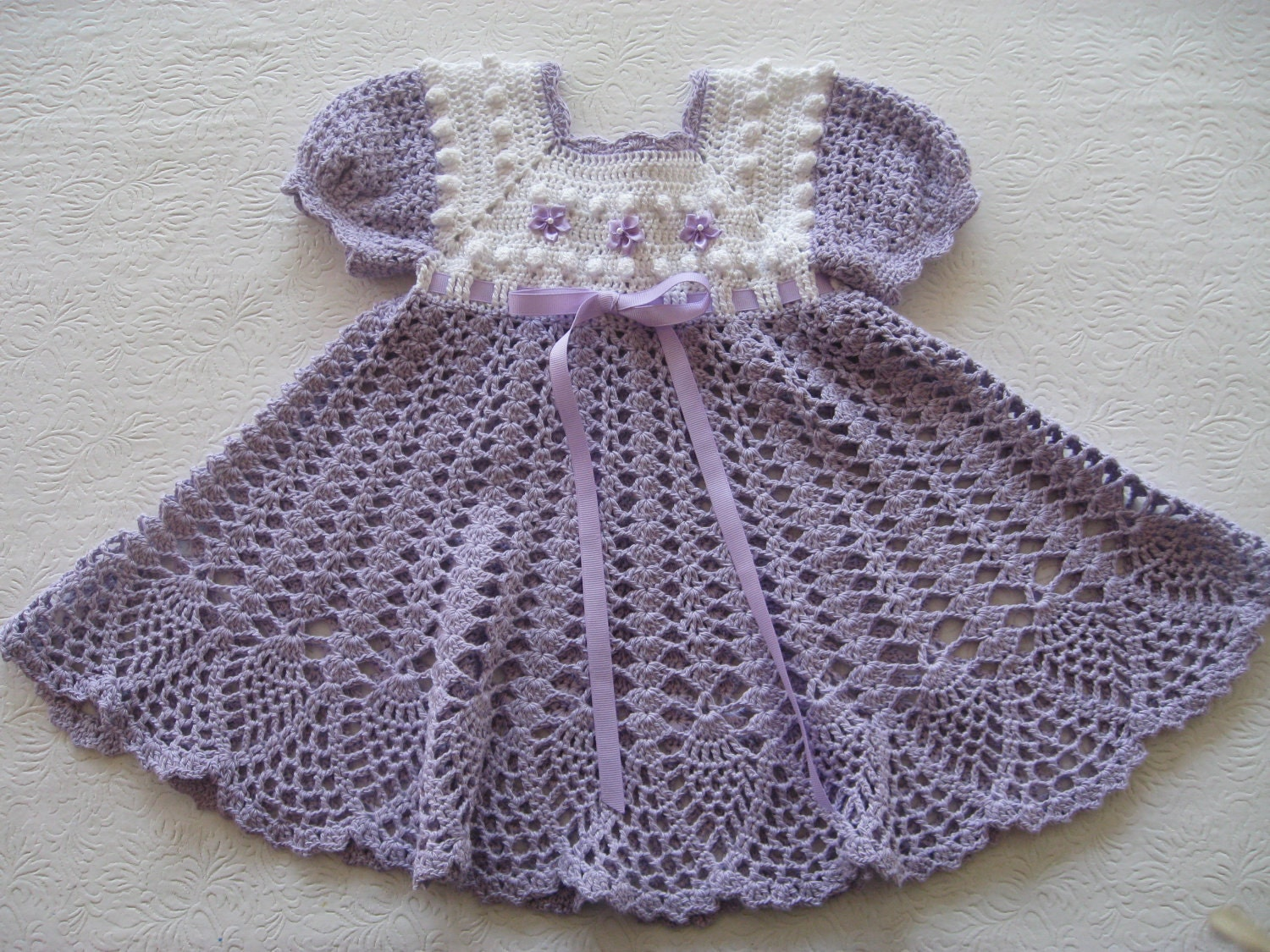 Crochet Stitches For Dresses : Crochet Pattern for Baby Girl Dress PDF by ThePatternParadise