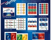 Olympics Birthday Party Printable Collection - Choose 3 Items Package