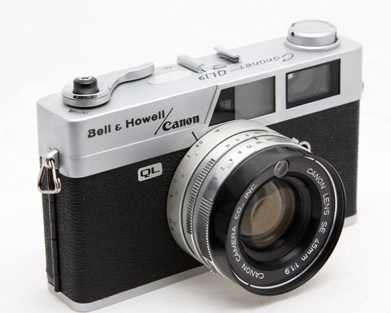 35mm Canonet Camera QL19 - Bell Howell/Canon - 1960s Rangefinder