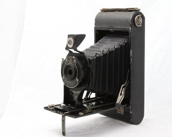 No. 2C Pocket Kodak Camera - Antique Bellows Folding Camera