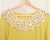 Trendy Vintage Look Crocheted Lace Collar (Necklace) Detachable