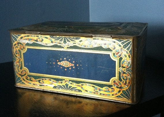 Vintage Tin Lithograph Perfume Box