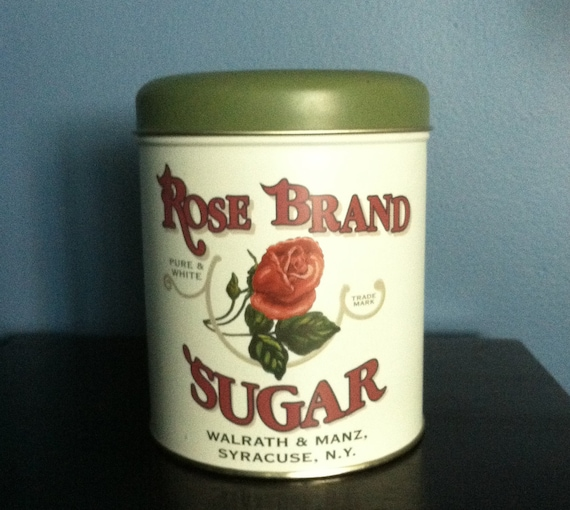 Adorable Rose Brand Sugar Tin with Vintage Look
