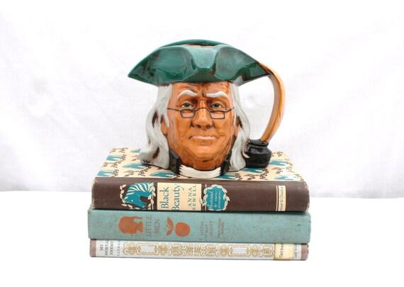 Vintage Benjamin Franklin Character Jug/ Stein/ Vase