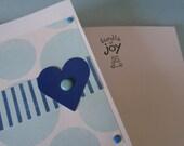 Bundle of Joy Blue Patterned Baby Boy Card