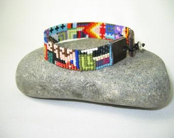 Bauhaus Beaded Bracelet - Wide