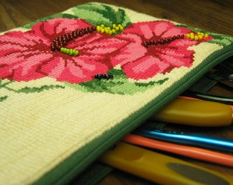 Red Pansy Pouch