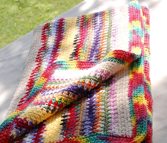 Colorburst Crocheted Blanket