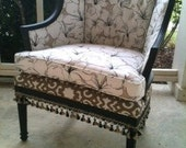"Brand New upcycled upholstered and refinished accent chair ""Sophisticated Lady"""