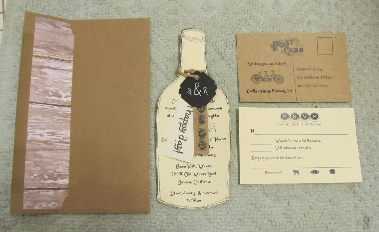 Wine Themed Wedding Invitations