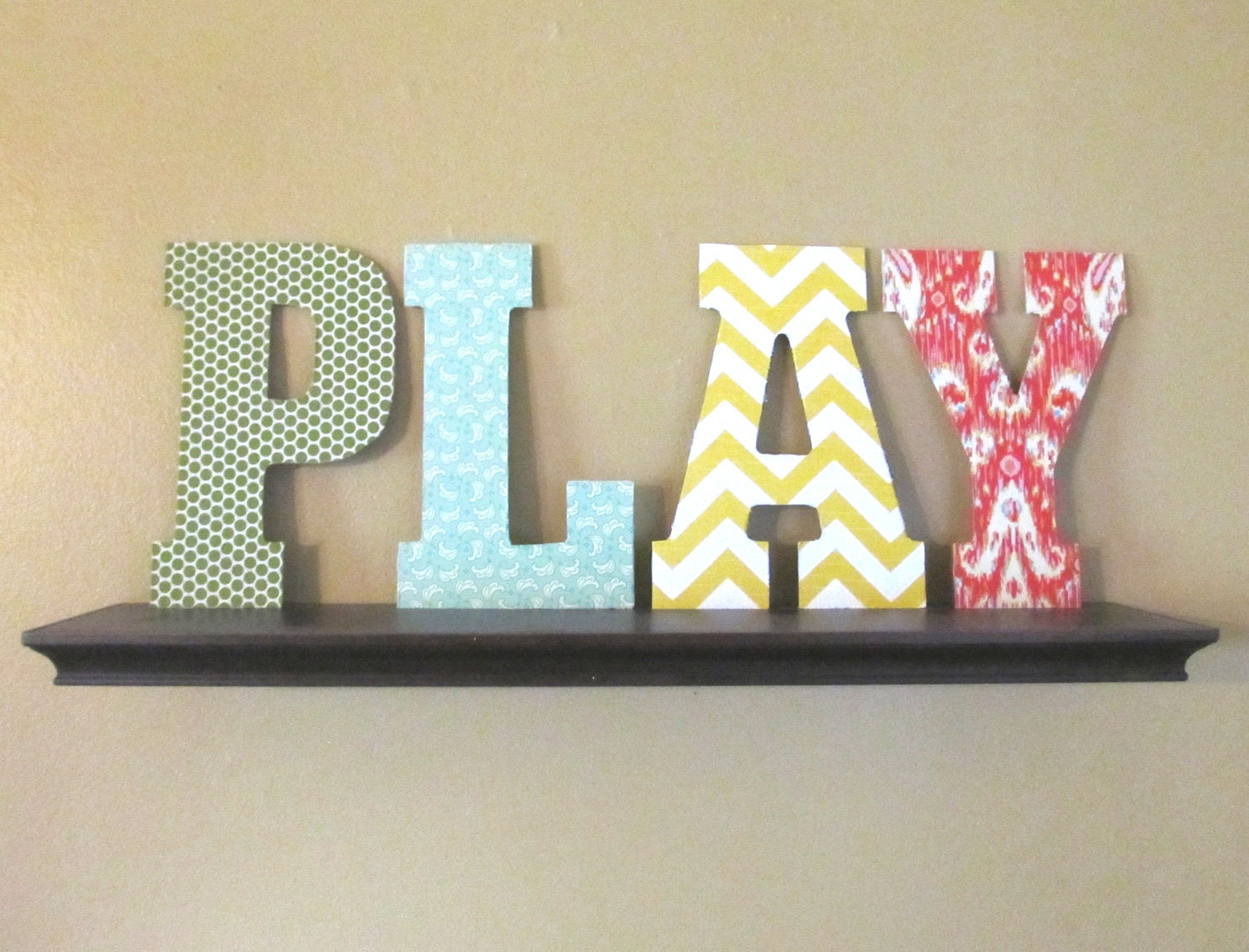 Fabric letters room decor by alroad on etsy for Small room 4 letters