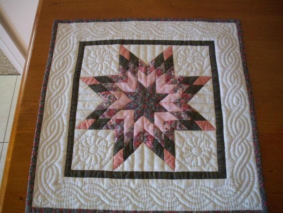 Miniature Quilt pattern, mini quilt, pdf  LONE STAR
