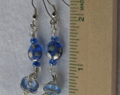 Blue Drop Glass Bead Earrings