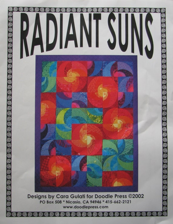 Radiant Suns Quilt Pattern By The Stitchin' Post