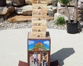 Backyard Block Party - Indoor and Outdoor Giant Wood stacking game - great fun for friends and families - Etsy's  first giant