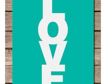 Love Typography Print Poster