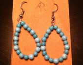 Turquoise French Wire Earrings - Surgical Steel Hook Hypoallergenic