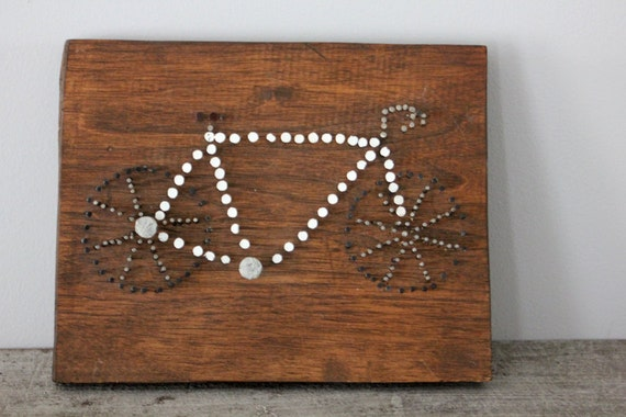 Rustic Wooden Nailhead Art
