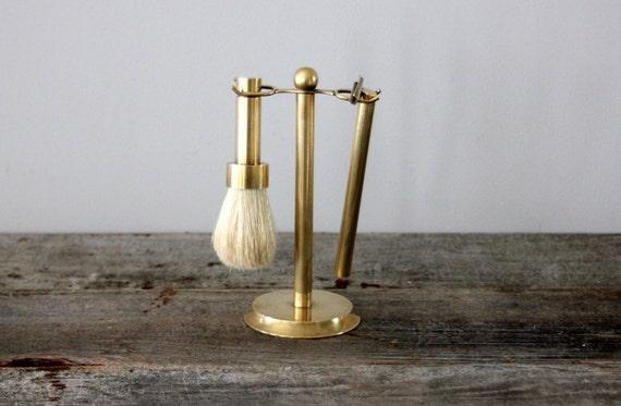 Vintage Brass Shaving Set
