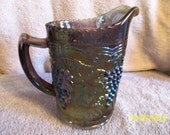 Carnival Glass Milk Pitcher by Imperial Glass Company.  Reserved