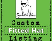 Custom Painted Fitted Hat Pick Your Design Kids Teens Adults 030