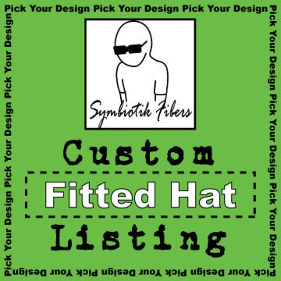 Custom Fitted Hat Listing for jjorge