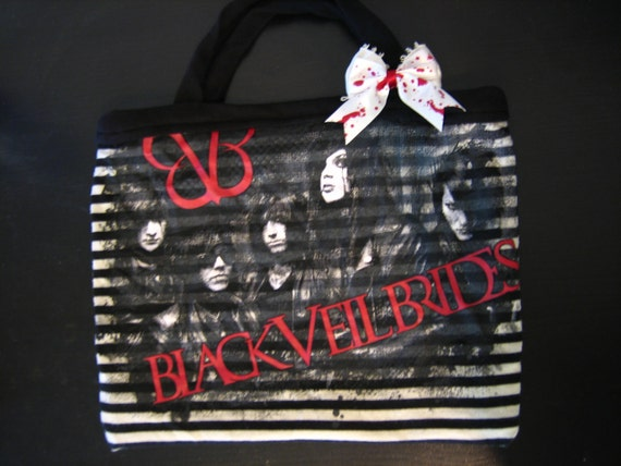 ON SALE - Black Veil Brides - Upcycled - Purse - BVB 1