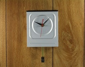 Wall Clock made from Upcycled DVD Rewriter with Swinging Pendulum, Geekery, Clocks by DanO