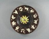 Wall Clock made from Upcycled Zodiac Ceramic Ashtray, Geekery, Clocks by DanO