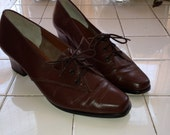 The 60s Parisian Oxford Heels (size 7-7.5)