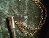 Telescope Necklace/ Spyglass Necklace Brass