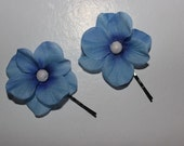 blue orchid bobby pins