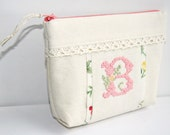 SALE 20% OFF Personalized Embroidered Cosmetic Bag