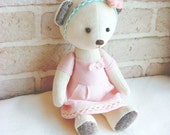 Teddy Bear Milky Soft Velvet Handmade Toy