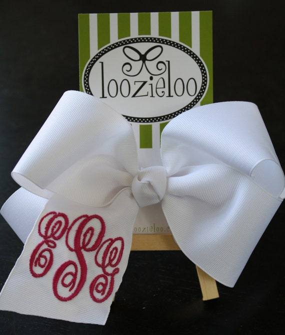 Giant Monogrammed Bow