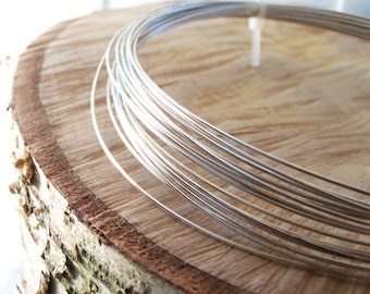 1mm/18 Gauge 1/2 Hard Recycled Sterling Silver Wire (1mm) - 1 Metre