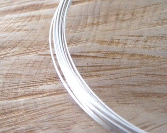 0.8mm/20 Gauge 1/2 Hard  Recycled Sterling Silver Wire - 1 Metre, 0.8mm Silver Wire, Half Hard Silver Wire - 1 Metre