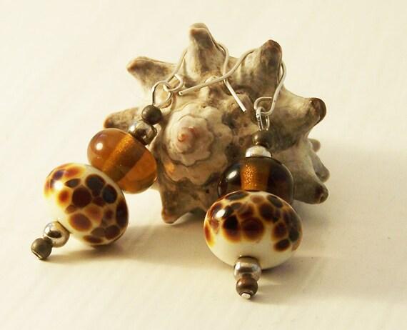 Ethical Handmade Earrings, Lampwork Earrings, Bead Earrings, Silver Earrings
