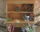 Dollhouse miniature gardener's hutch