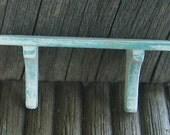 Dollhouse miniature shabby chic turquoise wall shelf