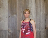 Refashioned T-Shirt- Summer Patriotic Tank Top- Womens upcycled clothing- Size Small, Medium