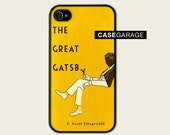 THE GREAT GATSBY - Free Shipping - Book Cover F. Scott Fitzgerald  - Iphone 4 / 4s Case