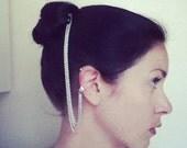 Silver Chain Ear Cuff and Haircomb (8 prongs)
