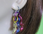 Barbie shoe earrings tiny transparent