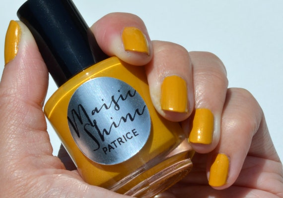 Nail Polish: Patrice - A slightly mustard yellow with a teensy bit of shimmer