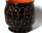 Black Bowl with Sgraffito and Trailing