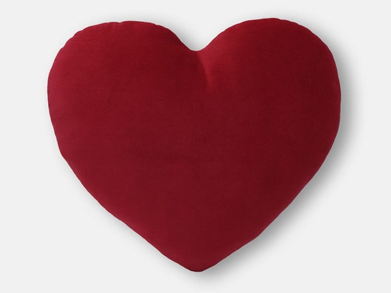 Red Heart Decorative Pillow : Valentine s Heart Shaped Decorative Pillow Deep Red